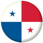 Panama Country Flag 25mm Pin Button Badge